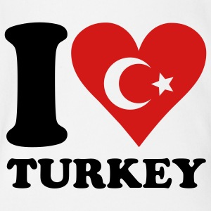 I love turkey Baby Bodysuits - Short Sleeve Baby Bodysuit