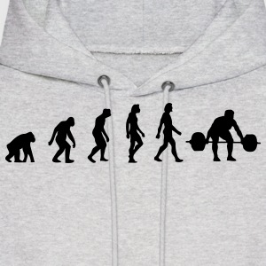 Weight Lifting Evolution (1c) Hoodies - Men's Hoodie