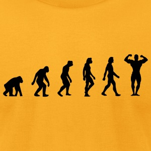 Body Building Evolution (1c) T-Shirts - Men's T-Shirt by American Apparel