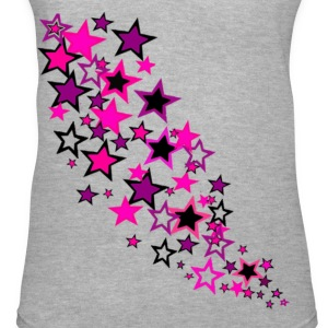 Girly Stars V-neck - Women's V-Neck T-Shirt