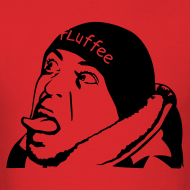 Design ~ Mens Red FLuffee Shirt.