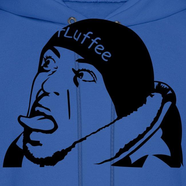 Mens Blue FLuffee Hoodie.