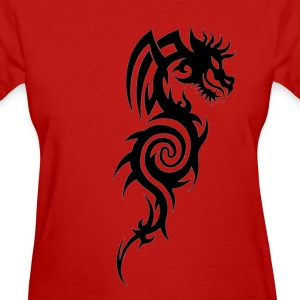 Tribal Dragon Tattoo - Women's T-Shirt