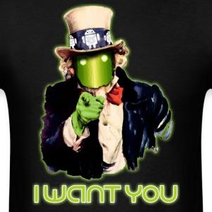 Android, I Want You - Men's T-Shirt
