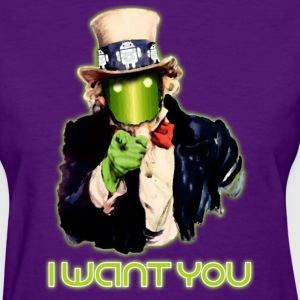 Android, I Want You - Women's T-Shirt
