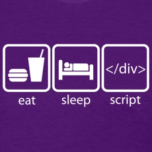Eat Sleep Script - Women's T-Shirt