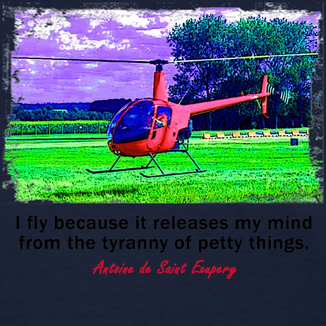 Women's Standard Weight T-Shirt - Helicopter - English Quote