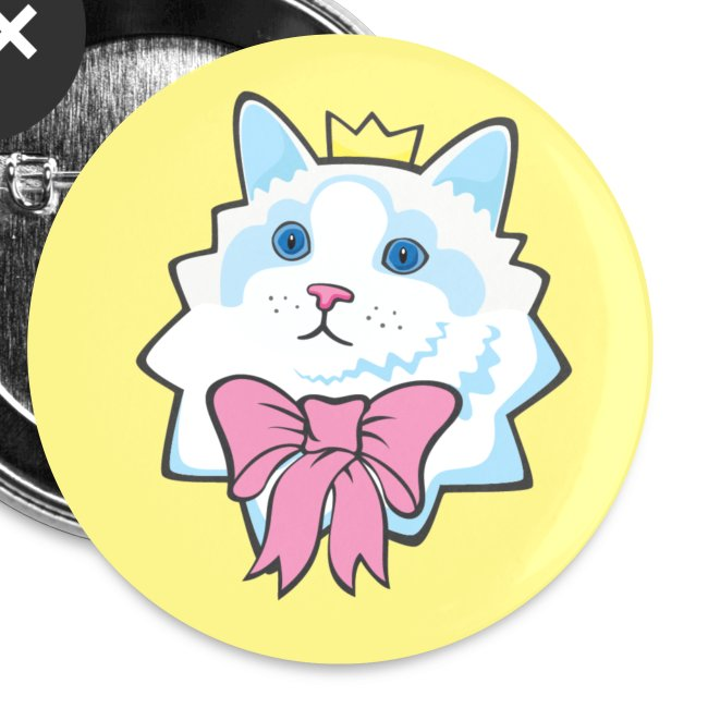 Prince Purrrfect Buttons