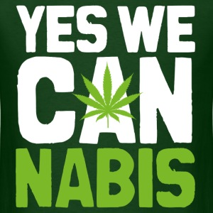 Yes We Cannabis Dark T-Shirts - Men's T-Shirt