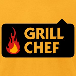 Grill Chef 1 (3c) T-Shirts - Men's T-Shirt by American Apparel