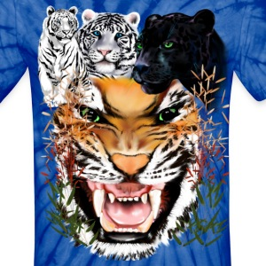 Big Cats - Unisex Tie Dye T-Shirt