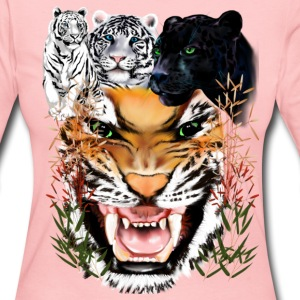 Big Cats - Women's Long Sleeve Jersey T-Shirt