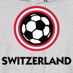 Switzerland Football Soccer Circles (DD) Hoodies
