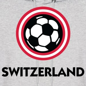 Switzerland Football Soccer Circles (DD) Hoodies - Men's Hoodie