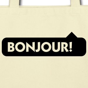 Bonjour (1c) Bags  - Eco-Friendly Cotton Tote