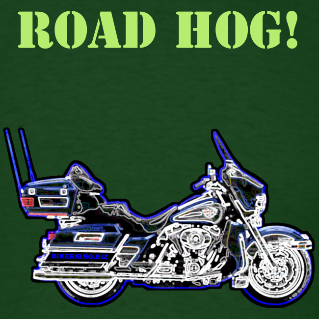 Men's T Front Road Hog Neon Custom