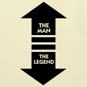 The Man The Legend (1c) Bags  - Eco-Friendly Cotton Tote