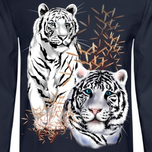 White Tigers  - Men's Long Sleeve T-Shirt