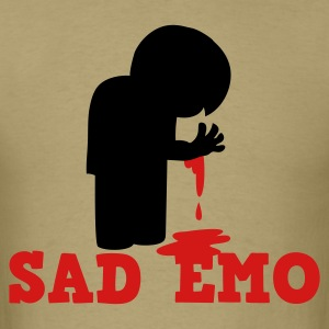 SAD EMO with blood T-Shirts - Men's T-Shirt