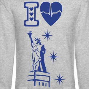 I love New York men's Crew-neck Sweatshirt - Crewneck Sweatshirt