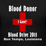 Design ~ Women's V-Neck Blood Donor 2011 - Black