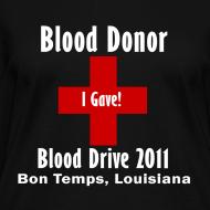 Design ~ Women's V-Neck Blood Donor 2011 - Black