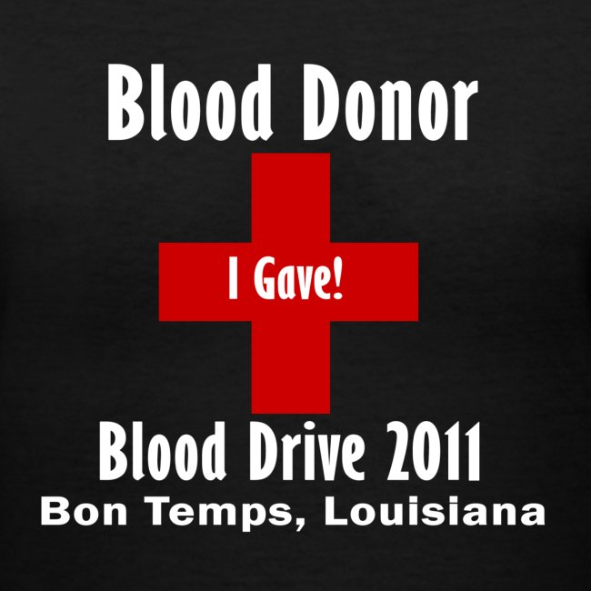 Women's V-Neck Blood Donor 2011 - Black