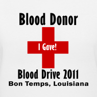 Design ~ Women's V-Neck Blood Donor 2011