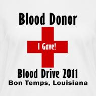 Design ~ Women's V-Neck Blood Donor 2011
