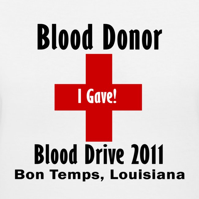 Women's V-Neck Blood Donor 2011