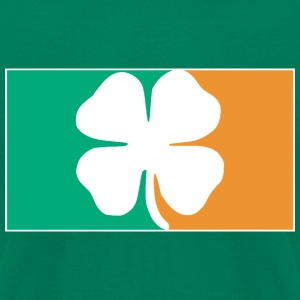 Irish Four Leaf Clover Flag T-Shirts - Men's T-Shirt by American Apparel