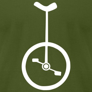 Unicycle T-Shirts - Men's T-Shirt by American Apparel