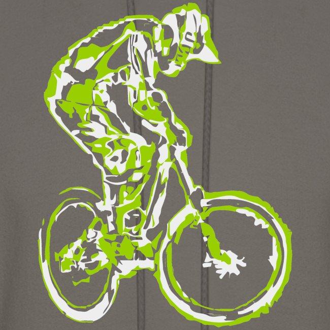 Mountain Bike Hooded Shirt - Downhill Rider