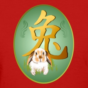 Year Of The Rabbit Oval - Women's T-Shirt