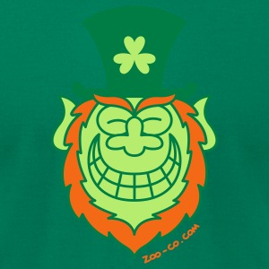 St Paddy's Day Leprechaun Grinning from Ear to Ear T-Shirts - Men's T-Shirt by American Apparel