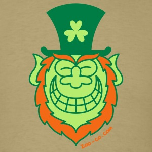 St Paddy's Day Leprechaun Grinning from Ear to Ear T-Shirts - Men's T-Shirt