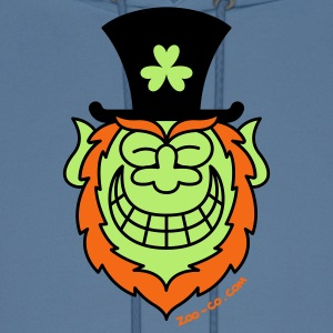 St Paddy's Day Leprechaun Grinning from Ear to Ear Hoodies - Men's Hoodie