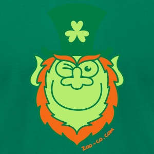 St Paddy's Day Leprechaun Winking and Smiling  T-Shirts - Men's T-Shirt by American Apparel