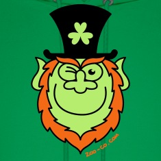 St Paddy's Day Leprechaun Winking and Smiling  Hoodies