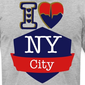 I Love New York City - Men's T-Shirt by American Apparel