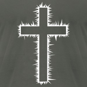 Christian Cross (V) T-Shirts - Men's T-Shirt by American Apparel