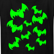 Design ~ Halloween Neon Bats - Child Size