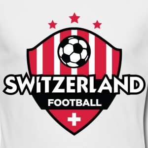 Switzerland Football (DD) Long Sleeve Shirts - Men's Long Sleeve T-Shirt by Next Level