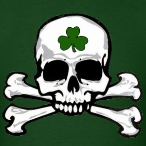 shamrock_skull_and_crossbones T-Shirts - Men's T-Shirt