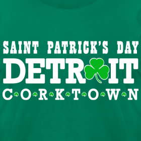 Design ~ Detroit St. Patrick's Day Men's American Apparel Tee