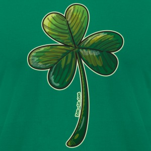 Saint Paddy's Day Clover T-Shirts - Men's T-Shirt by American Apparel