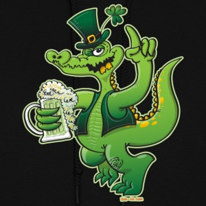 Saint Patrick's Day Crocodile Drinking Beer Hoodies - Women's Hoodie