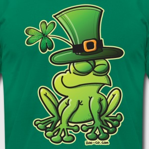 Saint Patrick's Day Frog T-Shirts - Men's T-Shirt by American Apparel