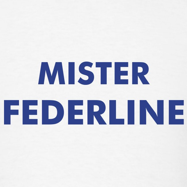 MISTER FEDERLINE Costume - White T-Shirt