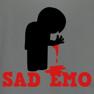 SAD EMO with blood Zip Hoodies/Jackets - Unisex Fleece Zip Hoodie by American Apparel